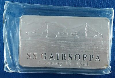 SS Gairsoppa Certified Shipwreck Silver 10 Ounce .999 Silver Bar - Mostly Sealed