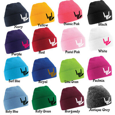 SHARE THE LOVE Embroidery Kids beanies boys girls Xmas gift persent hat winter