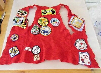 Vintage Boy Scouts Red Vest with Many Patches (1970's- early 1980's)