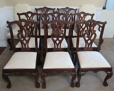 Stanley 60Th Anniversary Stoneleigh Collection, 10 Mahogany Dining Room Chairs