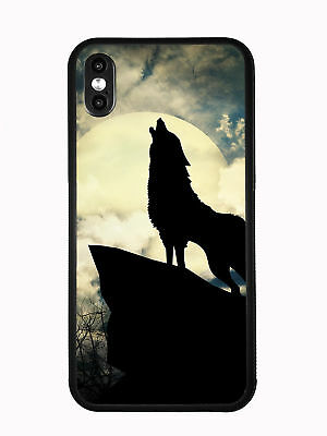 Shadow Wolf Howling At The Moon At Night For Iphone XS MAX 6.5 2018 Case