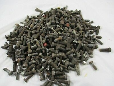 Huge Lot Of 435 Pieces Heavy Hex Head Bolts Black Steel Assorted Size Length