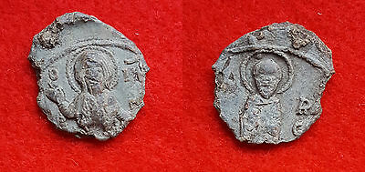 Z28: Beautiful  Byzantine  Lead Seal, As Found Condition