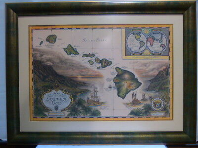 Framed Map Of The Sandwich Isles