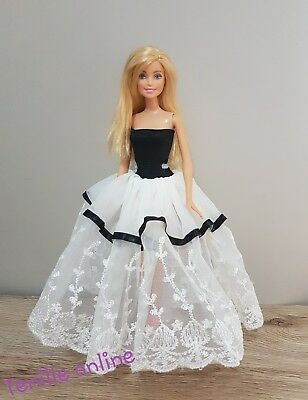 New Barbie clothes outfit princess wedding dress cocktail black white  x1
