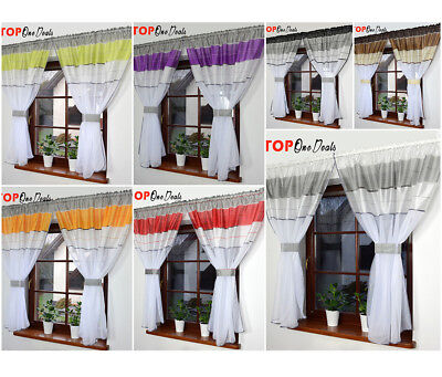 Amazing Voile Net Curtains Ready Made Ideal for Small or Medium Window New