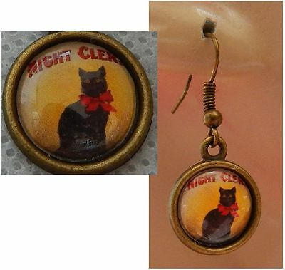 Black Cat Earrings Charm DropDangle Handcrafted Jewelry Accessories Women Gold