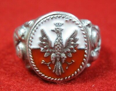 Polish Ring military Poland 1939 Polen Eagle Legions Pilsudski  ww1 WWI WW2