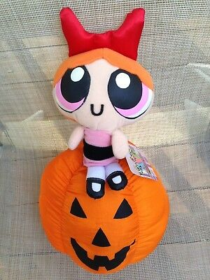 Powerpuff Girls BLOSSOM ON PUMPKIN, Halloween Plush w/tags