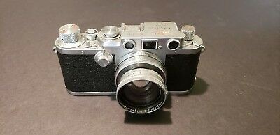Vintage Leica iiif Camera Serial # 542507 w/Rangefinder and w/Summitar Lens