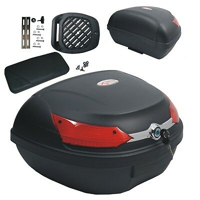 Top Case Box 46 LT Universal backrest Motorcycle Scooter Luggage Quad