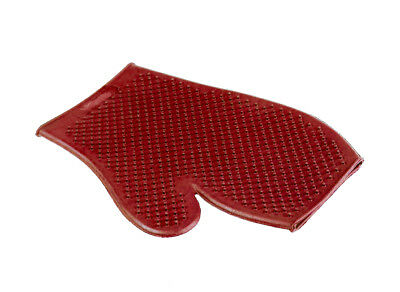 Horze Rubber Washing And Grooming Glove - Red