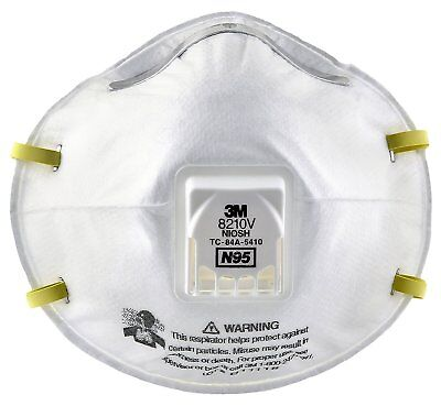 3M Particulate Respirator 8210V, N95 Respiratory Protection All Free Shipping
