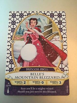 Disney Sorcerers of The Magic Kingdom Card BELLE'S MOUNTAIN BLIZZARD #02/70