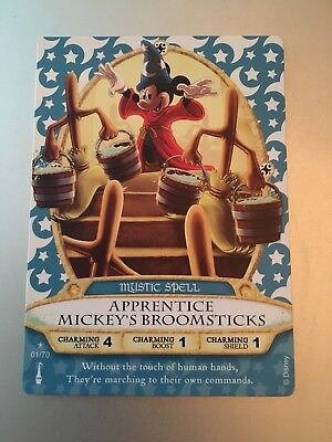 Disney Sorcerers of The Magic Kingdom Card APPRENTICE MICKEY'S BROOMSTICKS 1/70