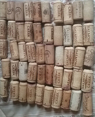 50 Used Wine Corks No Synthetic Or Champagne