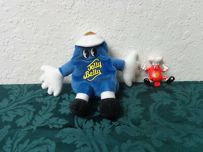 """plush 7"""" Blueberry Jelly Belly with Jelly Belly cap 1999"""