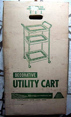 Vintage Yellow, 3 Tier Utility Cart.  In original box, never used.  Marsh Allan.