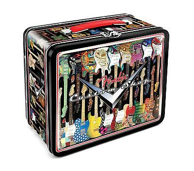 Fender Guitars Metal Lunch Box Custom Shop Retro Style Lunchbox Stash Tin NEW