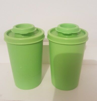 Vintage Retro Tupperware Salt And Pepper Shakers