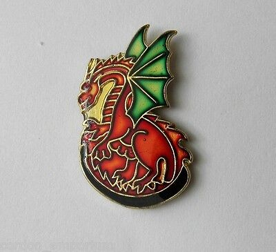 Dragon Red Mythological Magic Lapel Pin Badge 3/4 Inch