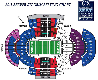 Penn State Vs Maryland Football Tickets 4 Plus Parking Pass