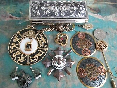 Vintage Lot of Mixed Antique-Victorian Style Jewelry-some 925 Sterling .