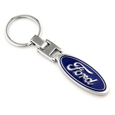 3D Metal Double Side Car Logo Keyring Key Chains Holder with Box for Ford