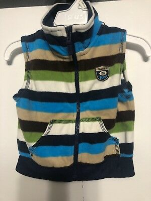 Carters Boys Size 18 Months Daddys Mvp Football Striped Vest Soft