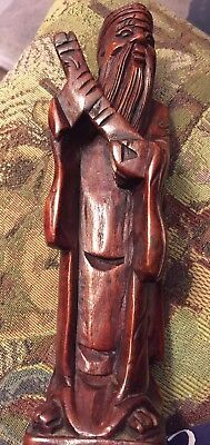 Vintage Hand Carved Wooden Figure Statue, Asian?