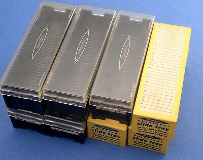 Lot of 8  Yankee Universal 30 SLIDE TRAYS - FOR 2 x 2 35mm SLIDE PROJECTOR