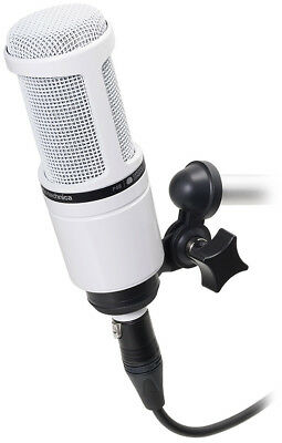 Audio-Technica AT2020 White XLR Recording Microphone For Music Streaming Voice