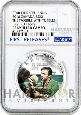 2016 Silver Star Trek - Trouble With Tribbles - Ngc Pf69 First Releases - W/ogp