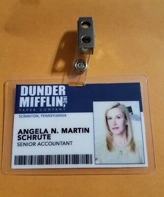 The Office ID Badge-Dunder Mifflin Angela N Martin Schrute cosplay costume