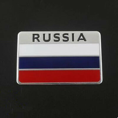 1X Decal Metal Emblem Badge Car Auto Fender Side Skirt Sticker Russian Flag New