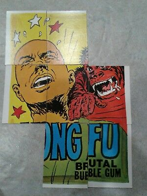 Lot Of 7 Wacky Packages Checklist Cards Series 8 Kong Fu Puzzle 1974