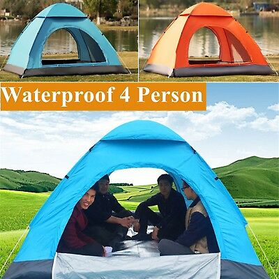 Large Camping Tent 4 Person Man Family Travel Dome Big Festival Group Waterproof