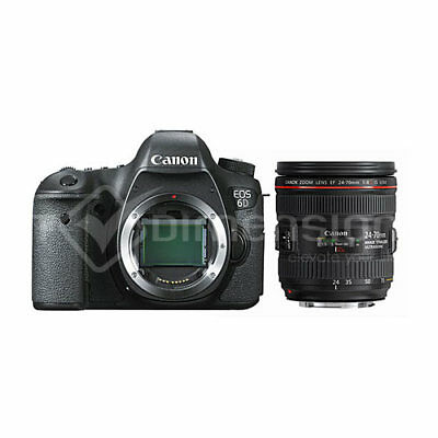 Canon EOS 6D with EF 24-70mm F/4L IS USM Lens Kit (Multi) Stock in EU Nuevo