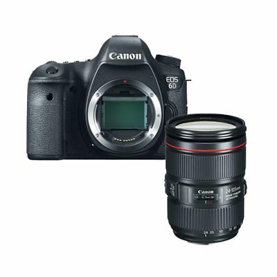 Canon EOS 6D DSLR Body with 24-105mm F4L IS II Lens kit Multi Stock in EU Nuevo