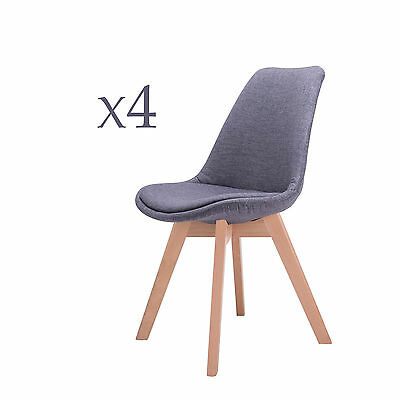 New  Mid Century Modern Dining Side Chair Living Room x 4