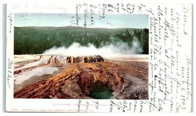1903 Punch Bowl, Yellowstone National Park, WY Postcard