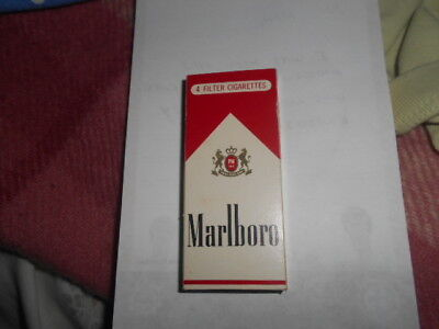 A Collectable Cigarette Packet Marlboro Held 4 Empty