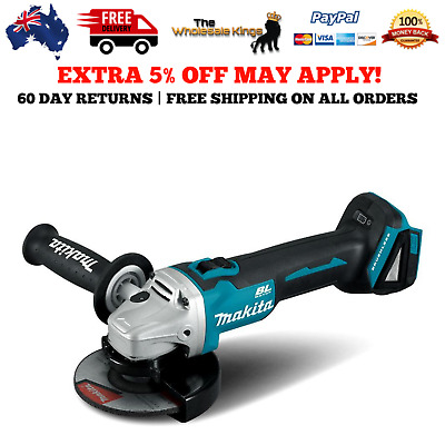 Makita 18V Li-ion Cordless Brushless 125mm 5in Angle Grinder - Skin Only DGA508Z