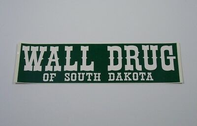 Wall Drug South Dakota Bumper Sticker green white vintage SD badlands tourist