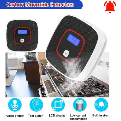 CO Carbon Monoxide+Smoke LED/LCD Detector Alarm Sensor Poisoning Gas Voice Promt