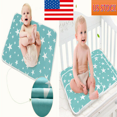 Washable Newborn Baby Mattress Breathable Supplies Waterproof Crib Sheet New