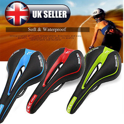 Mountain Bike Bicycle Cycle MTB GEL Soft Saddle Seat Road Sport Extra Comfort UK