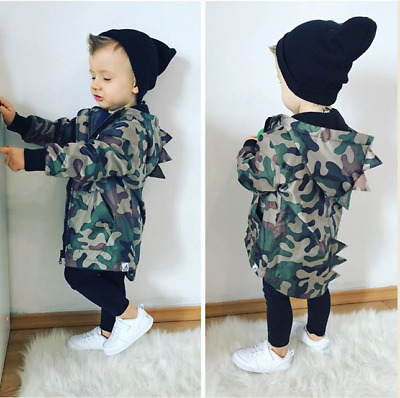 AU STOCK Newborn Baby Cotton Camo Clothes Set Girls Boys Kid Winter Coat Outwear