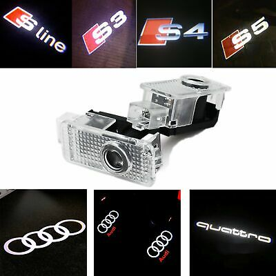 CREE LED Lamp Laser Projector Logo For AUDI Door Courtesy Puddle Shadow Light