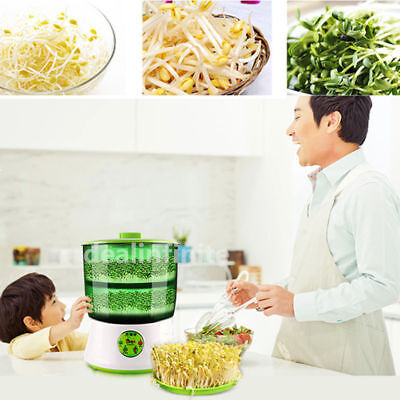 Double Layer Automatic Bean Seed Sprouts Machine Multifunctional Homemade Sprout